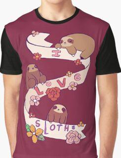 I Love Sloths Graphic T-Shirt