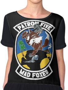 VP-5 Mad Foxes Chiffon Top
