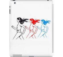walking jogging female sport iPad Case/Skin