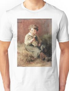 Felix Schlesinger - Pet Rabbit. Felix Schlesinger - boy with Rabbit. Unisex T-Shirt