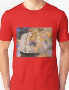 Odilon Redon - Flower Clouds. Odilon Redon - sea landscape. Unisex T-Shirt