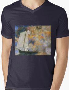 Odilon Redon - Flower Clouds. Odilon Redon - sea landscape. Mens V-Neck T-Shirt