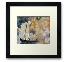 Odilon Redon - Flower Clouds. Odilon Redon - sea landscape. Framed Print