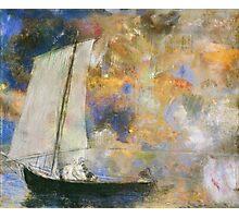 Odilon Redon - Flower Clouds. Odilon Redon - sea landscape. Photographic Print