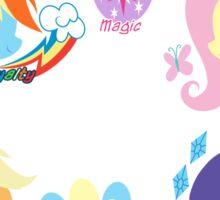 Mane Six 2 Sticker