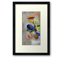 Odilon Redon - Flowers. Odilon Redon - still life with flowers. Framed Print