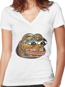 Pepe. Odd. Women's Fitted V-Neck T-Shirt