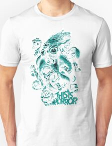 This Is Horror Green on White OctoTerror Unisex T-Shirt