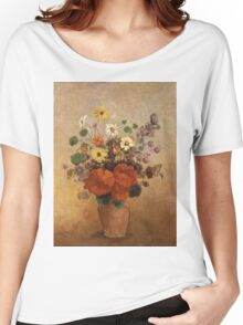 Odilon Redon - Flowers In A Vase. Odilon Redon - still life with flowers. Women's Relaxed Fit T-Shirt