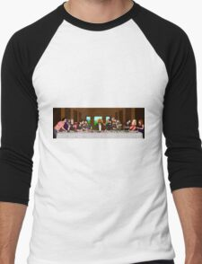 The Last Supper of the High Church of the Holy Dick  Men's Baseball ¾ T-Shirt