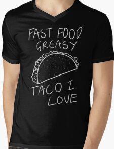 Taco Bell Saga (White) Mens V-Neck T-Shirt
