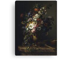 Francesc Lacoma Fontanet  - Gerro Amb Flors. Fragonard - still life with flowers. Canvas Print