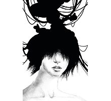 Inky Head Photographic Print