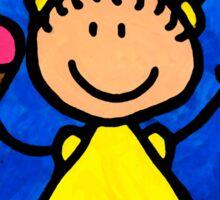 Happi Arte 3 - Little Girl Ice Cream Cone Art Sticker