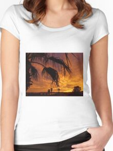 Golden Skies Women's Fitted Scoop T-Shirt