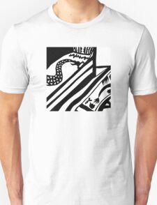 Black and White Oriental Design Unisex T-Shirt