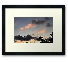 Dragons in the sky Framed Print