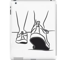 walking shoes sport go iPad Case/Skin