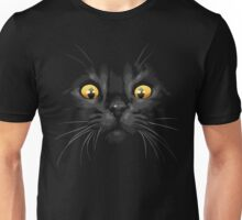 Cat yellow eyes Unisex T-Shirt