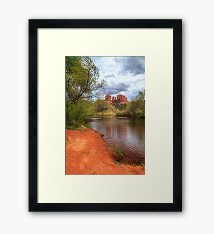 Cathedral Rock From Oak Creek Framed Print