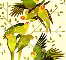 Carolina Parakeet by Scott Partridge