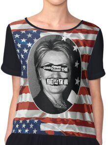 God Save The States (Hillary Clinton) Chiffon Top