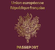 French Passport Vintage Unisex T-Shirt