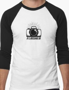 Camera Flasher Men's Baseball ¾ T-Shirt