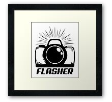 Camera Flasher Framed Print