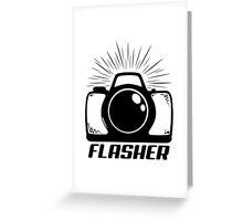 Camera Flasher Greeting Card