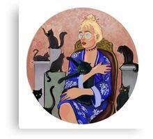 Cat Lady Chic Canvas Print