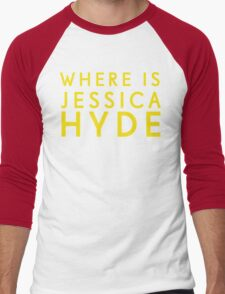 'Where is Jessica Hyde' from Channel 4's Utopia  Men's Baseball ¾ T-Shirt