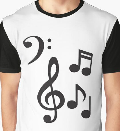 Notes and Clefs Graphic T-Shirt