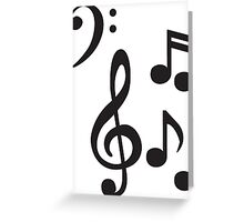 Notes and Clefs Greeting Card
