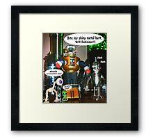 Misbehaving Robots Framed Print