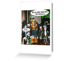 Misbehaving Robots Greeting Card