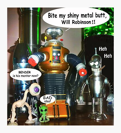 Misbehaving Robots Photographic Print