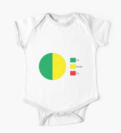Do Or Do Not, There is No Try Pie Chart One Piece - Short Sleeve