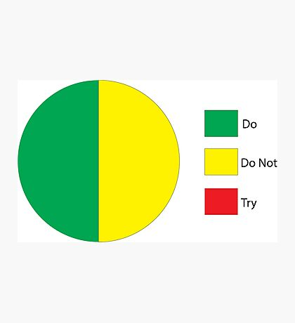 Do Or Do Not, There is No Try Pie Chart Photographic Print