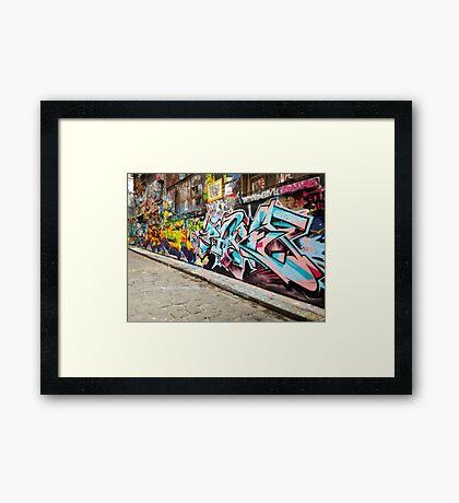 Melbourne Graffiti  Framed Print