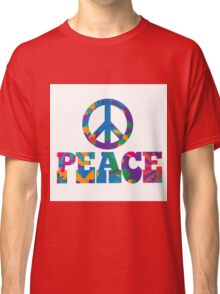 colorful Peace text design. Classic T-Shirt