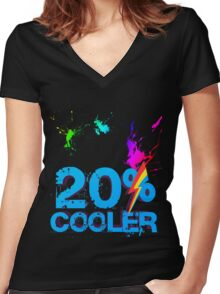 Quotes and quips - 20% cooler Women's Fitted V-Neck T-Shirt