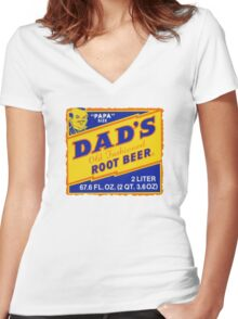 DAD'S ROOT BEER Women's Fitted V-Neck T-Shirt