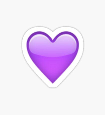 Purple Heart Emoji Sticker