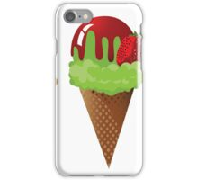 Set of ice cream cones. iPhone Case/Skin