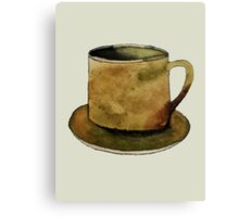 Mug on Plate Canvas Print