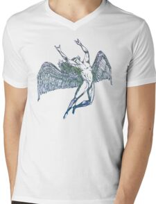 ICARUS THROWS THE HORNS - crumpled druid Mens V-Neck T-Shirt