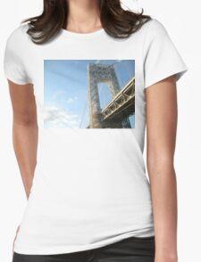 George Washington Bridge Womens Fitted T-Shirt