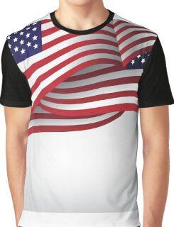 American flag illustration Graphic T-Shirt