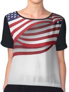 American flag illustration Chiffon Top